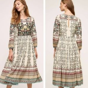 Anthropologie Bhanuni Far Fields Dress 2P